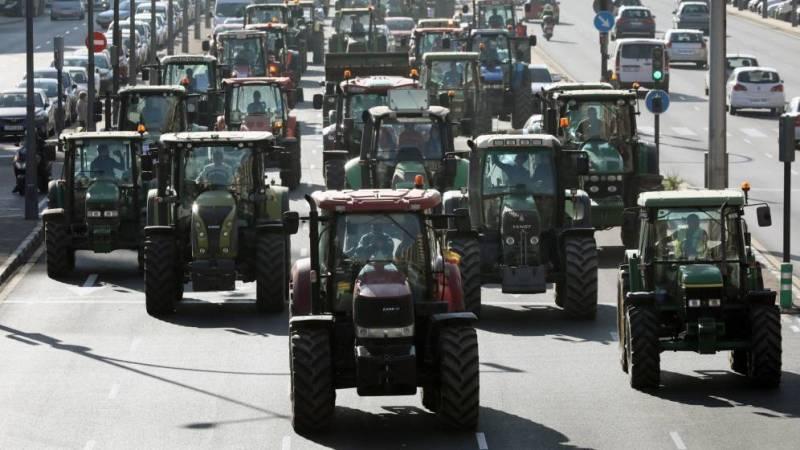Tractorada en Valencia EFE