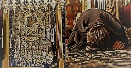 ...παρέδωσε το πνεύμα του μπροστά στην εικόνα της Παναγίας Παρθένου...