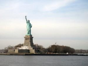 A vista da Staten Island Ferry