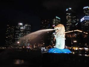 Merlion, o maior marco de Cingapura