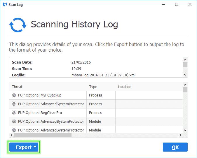 Scanning_History_Malwarebytes_Anti_Malware_sos-malware. Tutorial Malwarebytes Anti-Malware