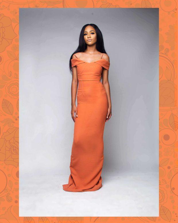 orange dress