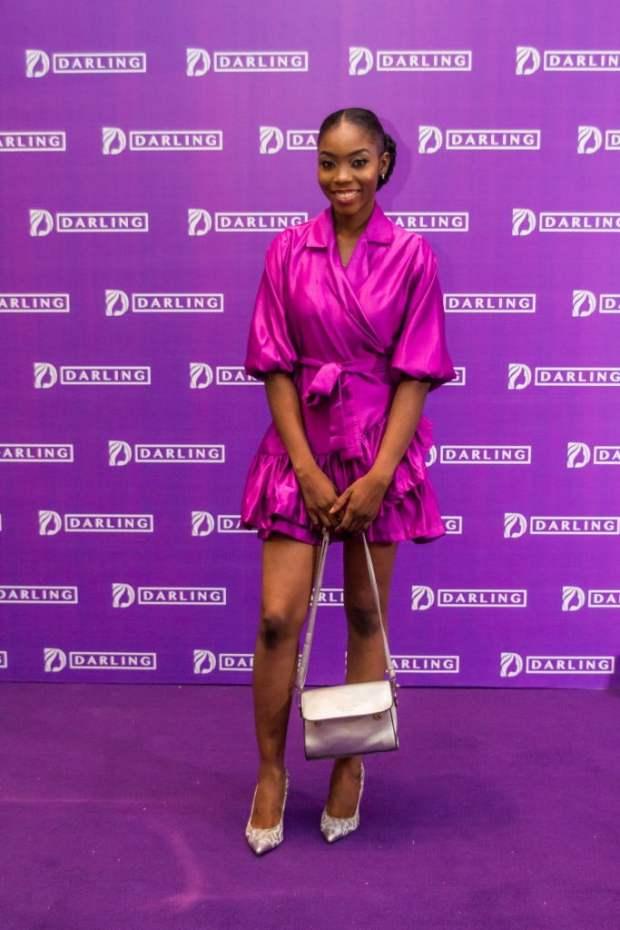 purple short dress