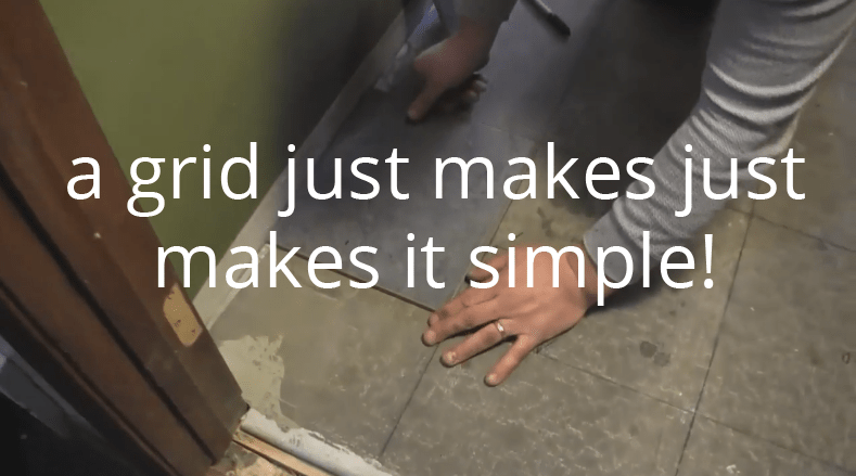 how to make a grid for an easy tile installation