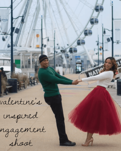 Valentine's Inspired Engagement Photo Shoot