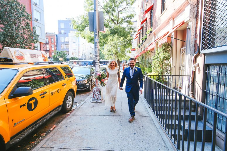 Bride and Groom Yellow Cab NYC