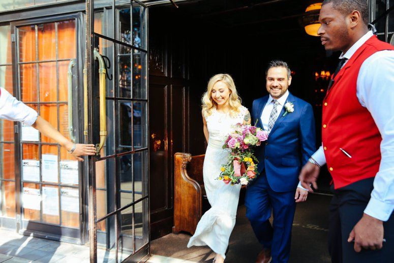 Bride and Groom Bowery Hotel