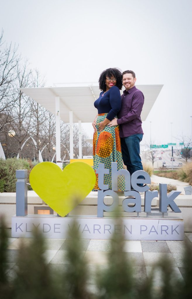 Engagement Photo Klyde Warren Park