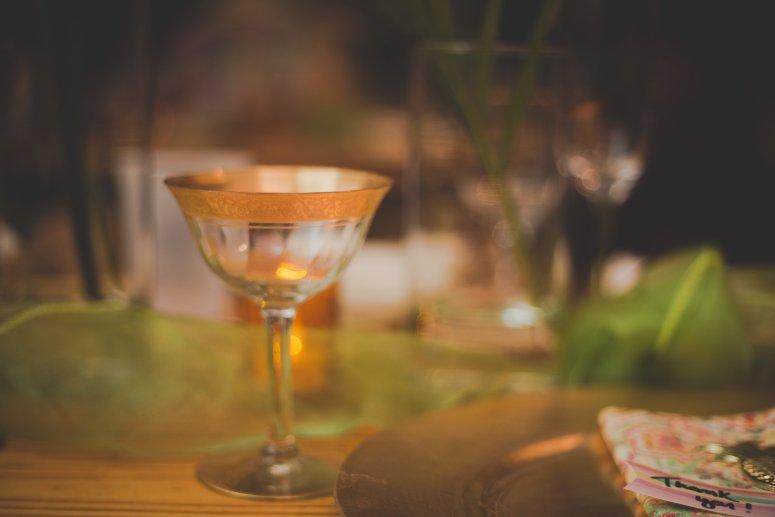 Hawaiian Wedding Champagne Glass