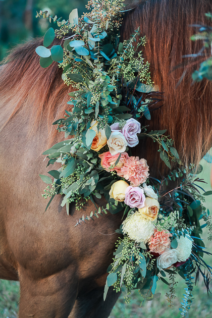 Horse Garland Floral Wreath