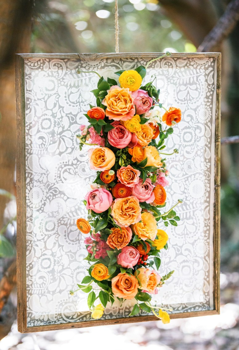 Lace and Floral Wall | Spring Florals | Spring Wedding | Spring Wedding Flowers