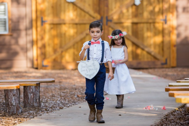 Ring Bearer & Flower Girl Style for Rustic Outdoor Wedding