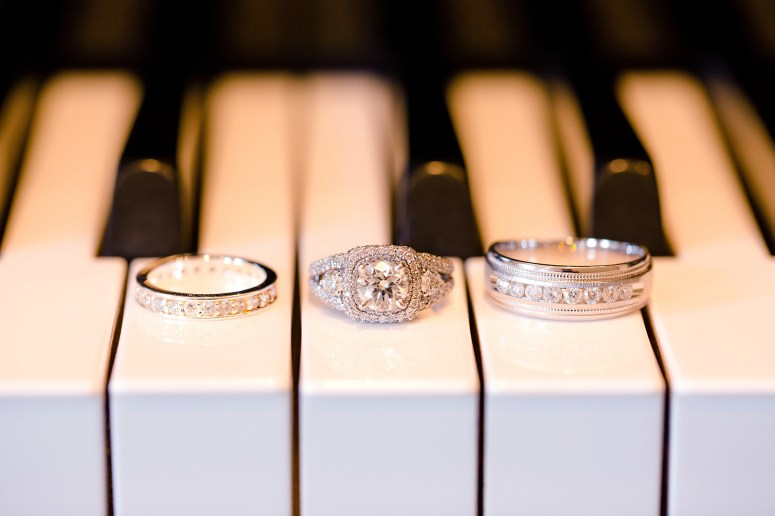 Engagement Ring Photo | Engagement Ring on Piano