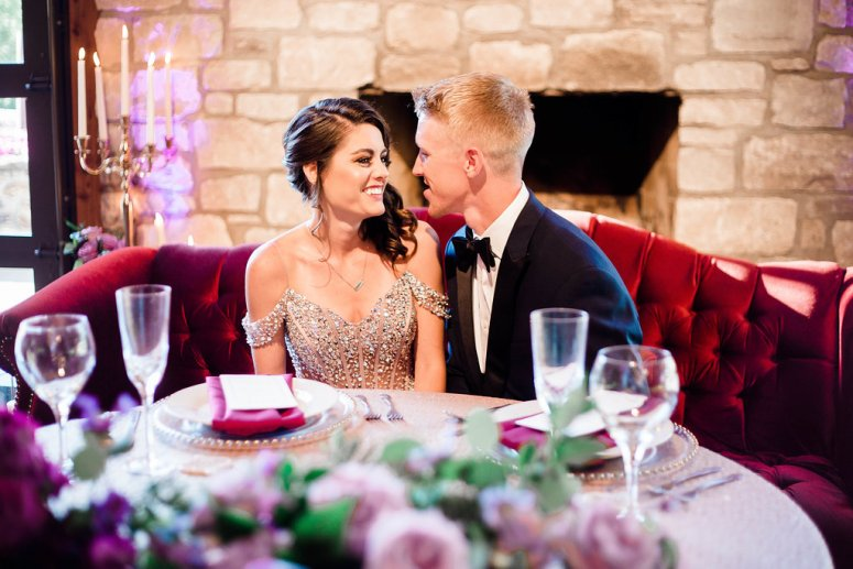 Romantic Sweetheart Table for Bride and Groom
