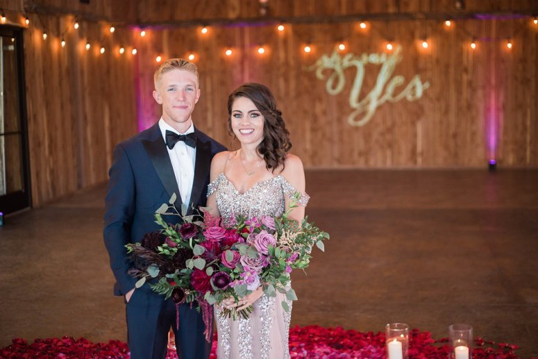Pink, Red, and Purple Wedding Florals
