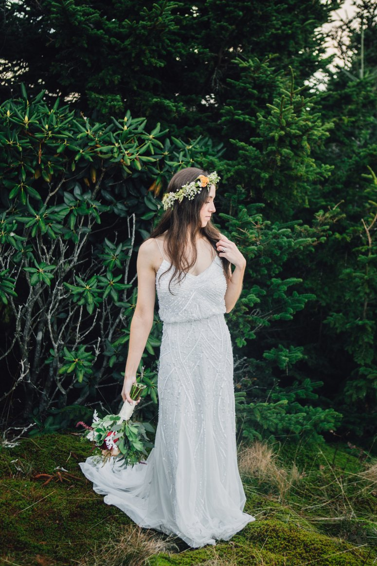 Boho Chic Bride with Flower Crown