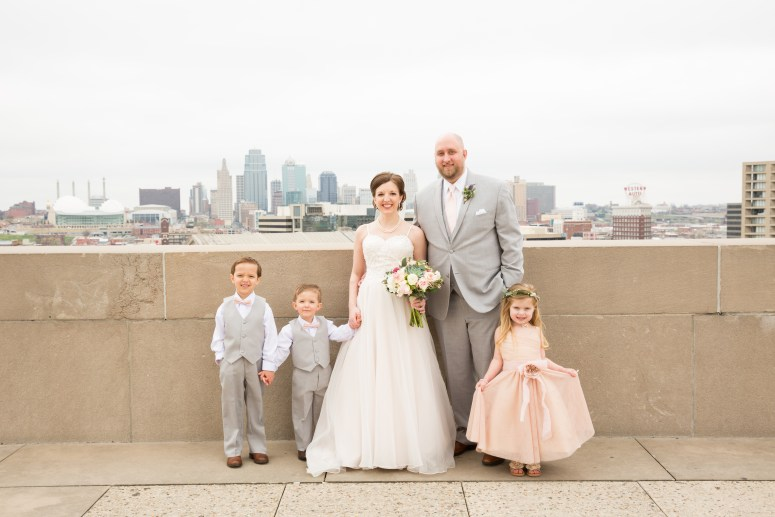 Bride and Groom with Flower Girl & Ring Bearers