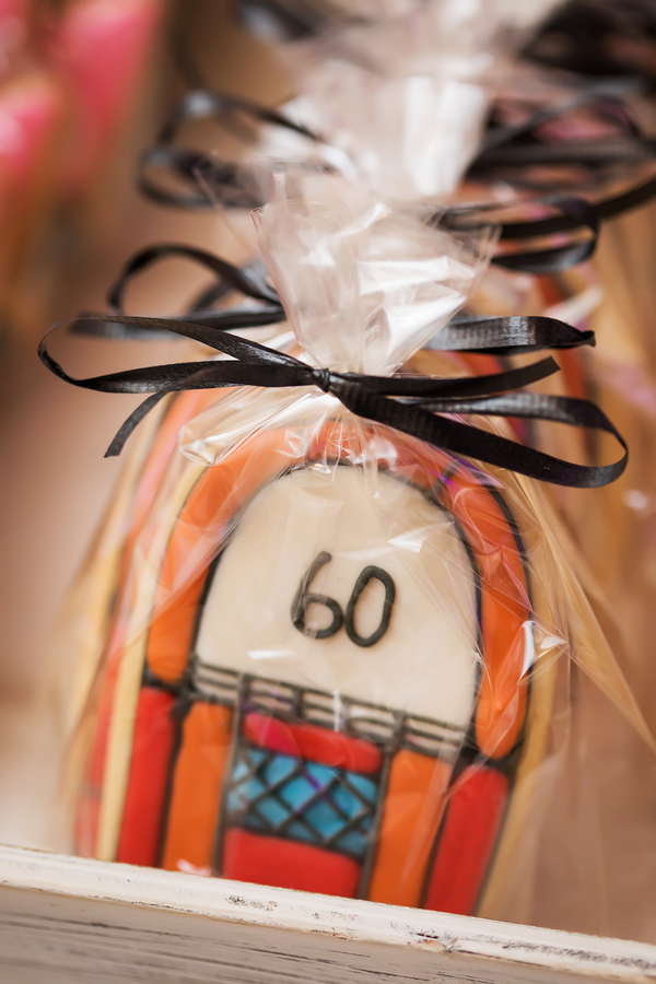 60th wedding anniversary themed cookies