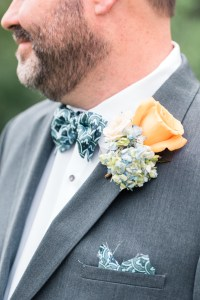Blue & Gold Grooms Boutonniere