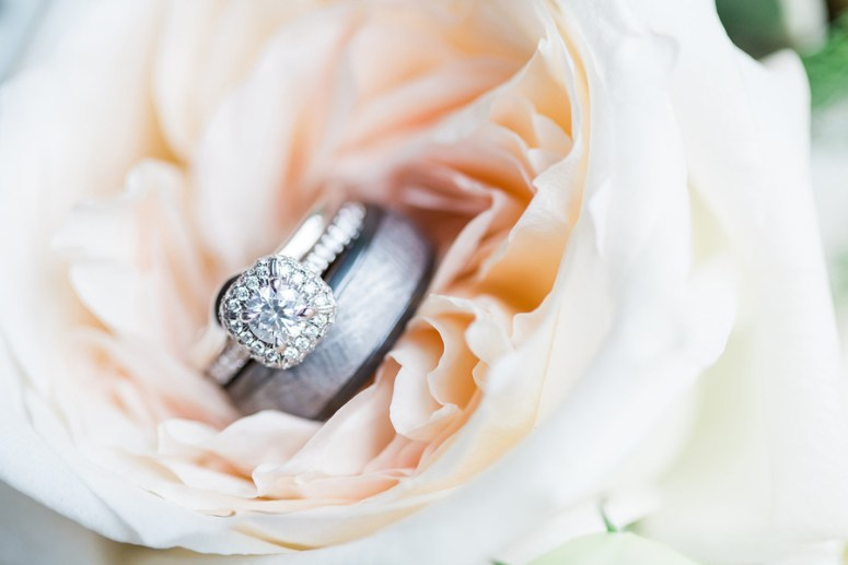 engagement ring in peony