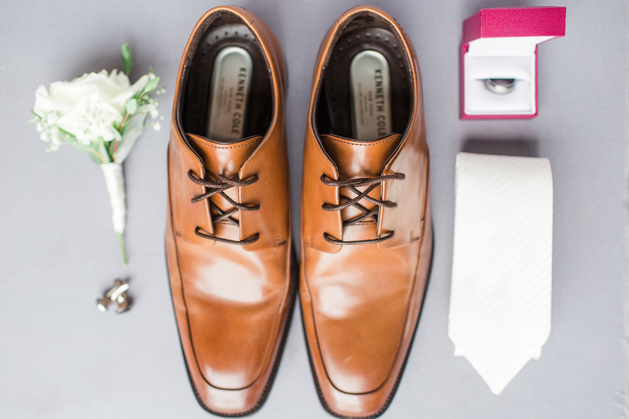 grooms shoes and wedding day details