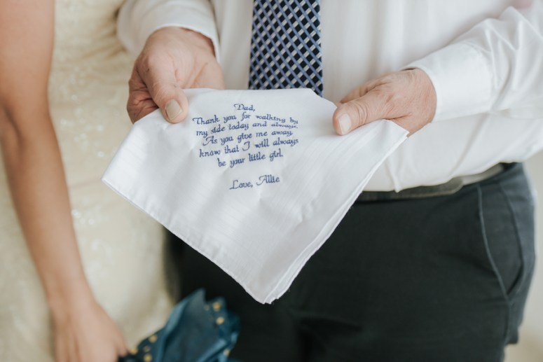 Bride Gifting Father a Gift