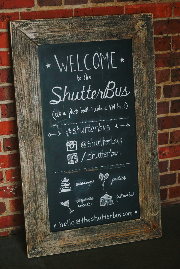 Shutter Bus Chalk Board Sign Denver, Colorado