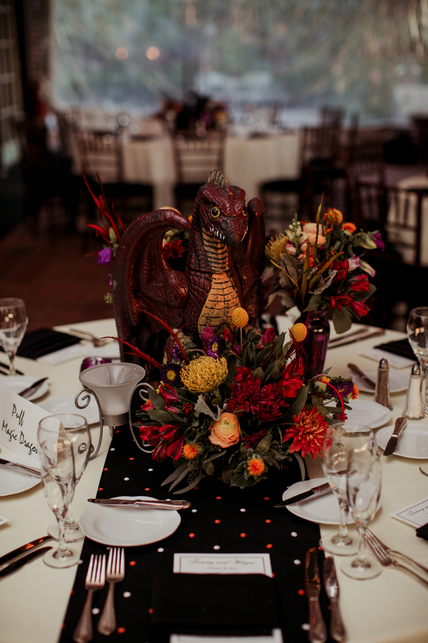 halloween themed wedding reception