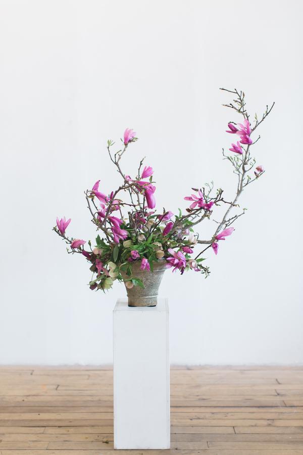 pink wildflowers at wedding