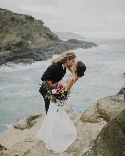 A Styled Elopement in Oahu, Hawaii