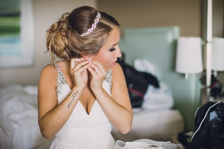 stylish bride with tattoos