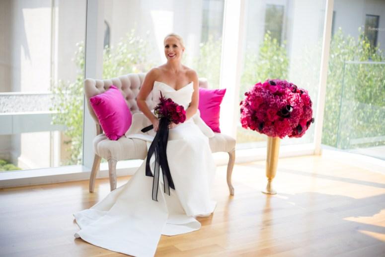 hot pink wedding, pink wedding color palette, pink wedding florals