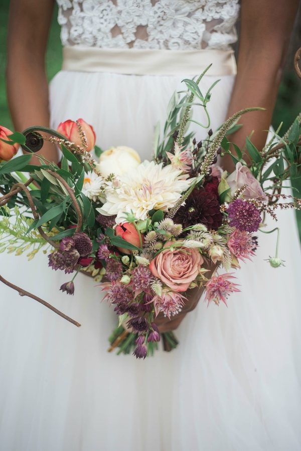 Harry Potter Wedding, V Shaped Bridal Bouquet