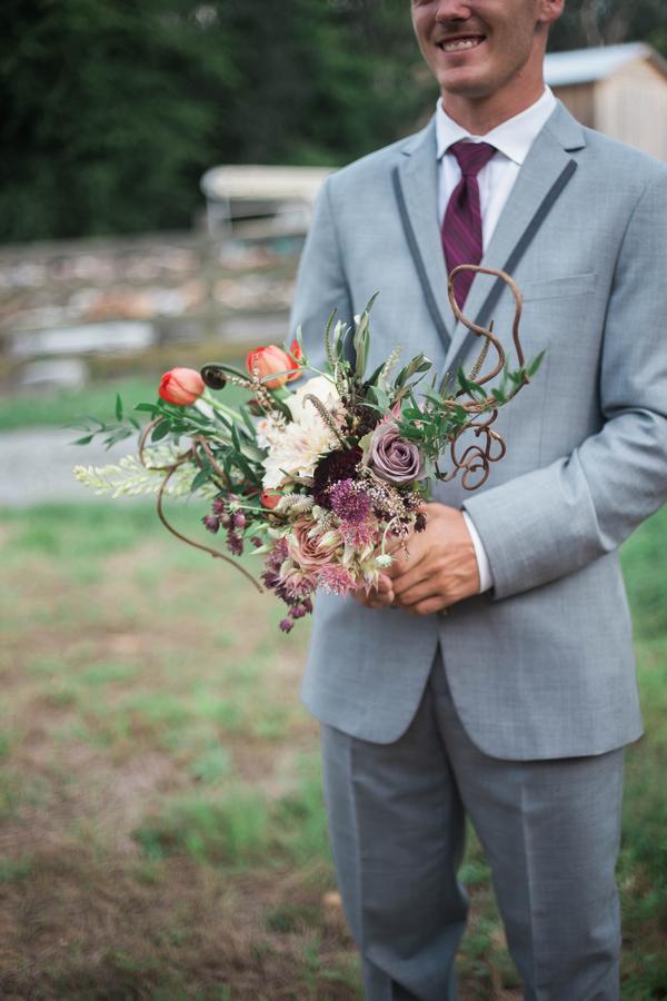 Groom Holding Bridal Bouquet, Harry Potter Wedding