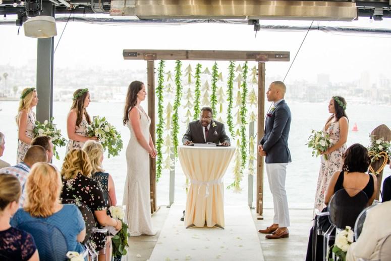Waterfront Wedding Ceremony, Wedding Ceremony on Water, San Diego Wedding Ceremony