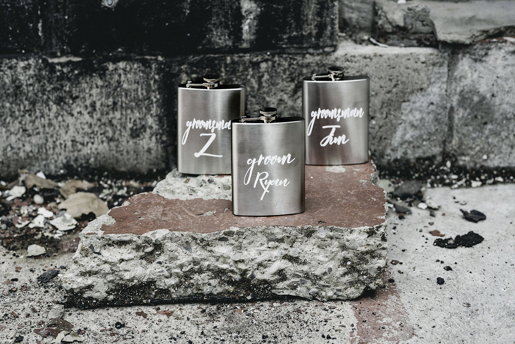 personalized flasks for wedding gifts