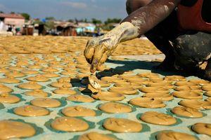 © Eduardo Munoz / Reuters - - 3 lutego - Haitańczyk przygotowuje ciastka z błota, by następnie sprzedać je w Cite Soleil, dzielnicy Port-au-Prince. Nawet przed trzęsieniem ziemi ciastka robione z ziemi, soli i tłuszczu roślinnego były jedną z niewielu potraw, na które mogli sobie pozwolić najbiedniejsi.