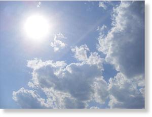 sun, clouds, sunny day