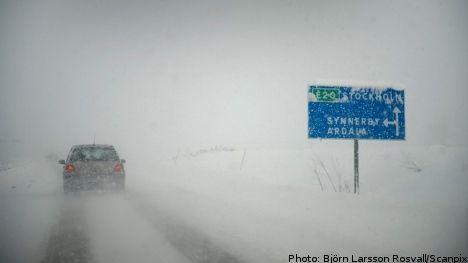 Snow storm in Sweden