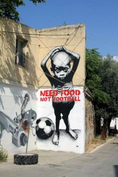boy, soccer ball, need food