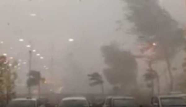 Freak weather including whirlwinds, flash floods and giant ...