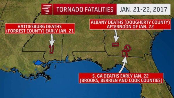 US tornado outbreak: Deadliest January since 1969 and ...