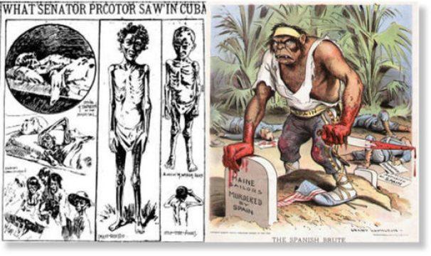 US-Spanish war propaganda Cuba