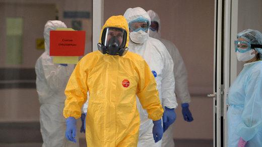 putin hazmat suit coronavirus hospital covid-19