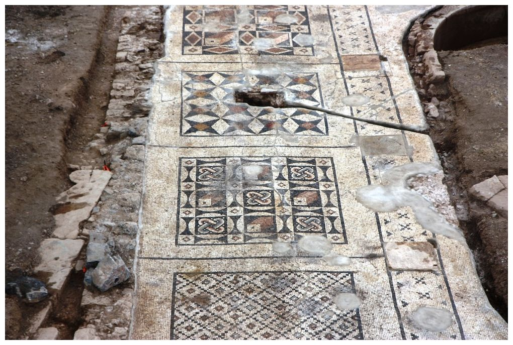 Enormous Roman Mosaic Found Under Farmers Field Secret