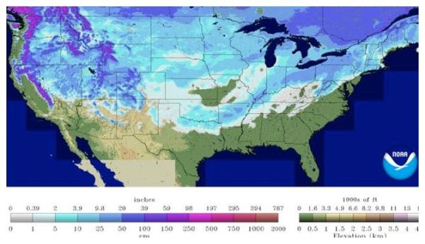 65 percent of USA covered by snow -- Earth Changes -- Sott.net
