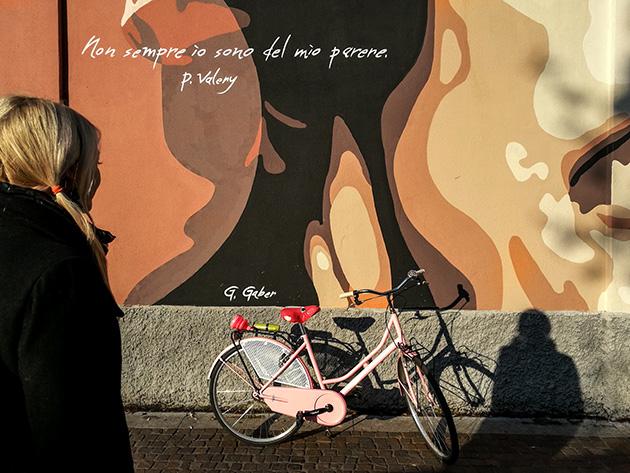 sottosopra comunicazione bici rosa