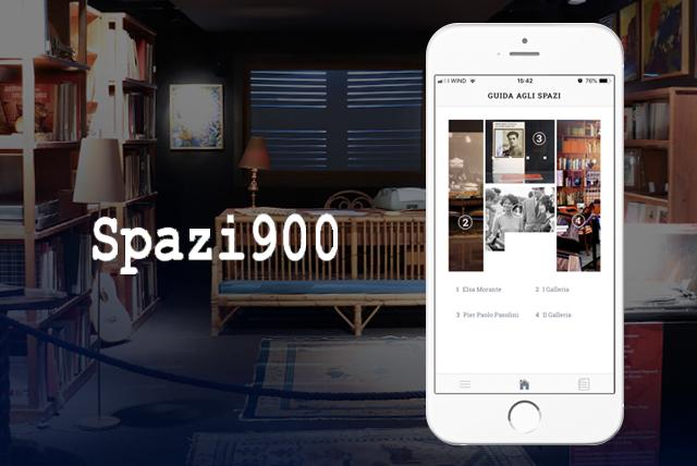 immagine e logo spazi900 app per visitare biblioteca nazionale di Roma