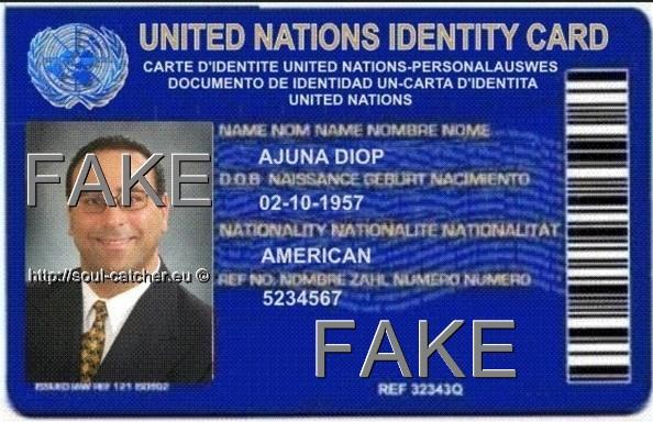 Fake Identity Card with stolen image from unknown person abused by Scammers