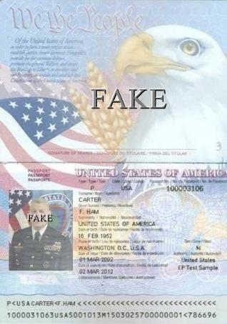 Fake Passport with stolen image from Gen. Carter Ham (Retired) abused by Scammers